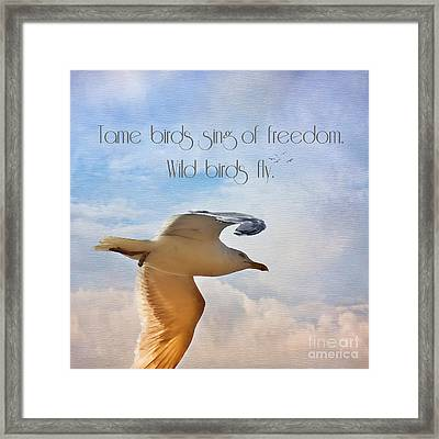 Freedom Framed Print by Angela Doelling AD DESIGN Photo and PhotoArt