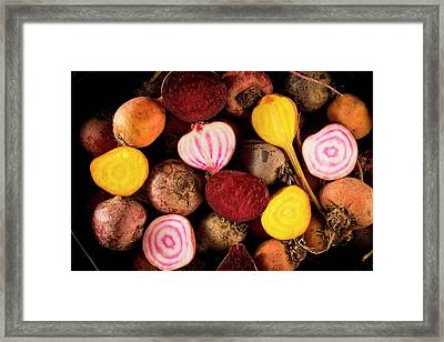 Fresh Beetroot And Red Onions Framed Print by Aberration Films Ltd