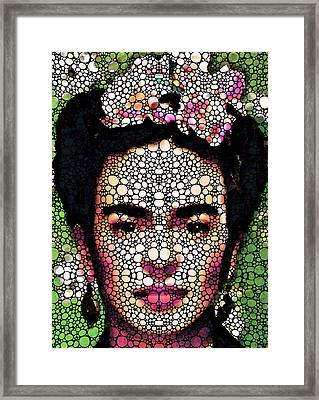 Frida Kahlo Art - Define Beauty Framed Print by Sharon Cummings