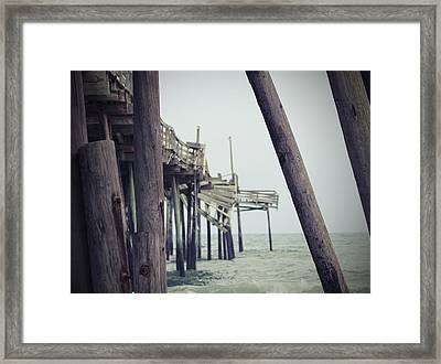 Frisco Pier 16 Framed Print by Cathy Lindsey