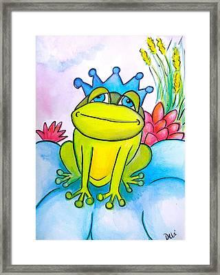 Frog Prince Framed Print by Debi Starr