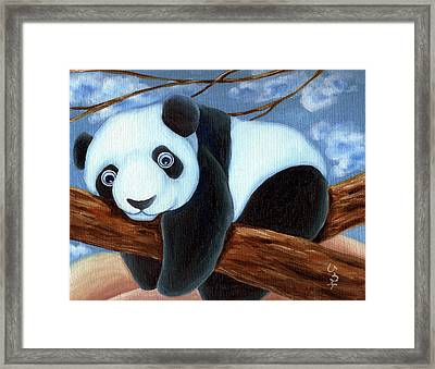 From Okin The Panda Illustration 7 Framed Print by Hiroko Sakai