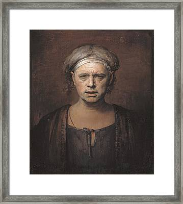 Frontal Framed Print by Odd Nerdrum
