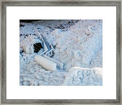 Frozen Staircase By Seljalandsfoss Framed Print by Panoramic Images