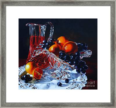 Fruit Punch Framed Print by Monika Pate