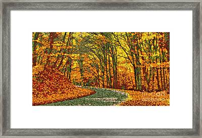 Fruits And Vegetables Forest Framed Print by Odon Czintos