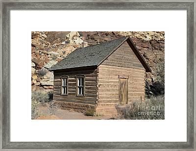 Frutia Schoolhouse Capitol Reef National Park Utah Framed Print by Jason O Watson