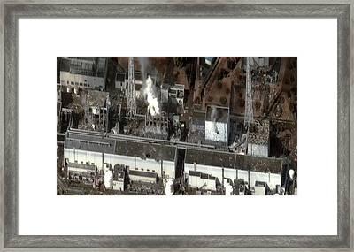 Fukushima Nuclear Power Plant Framed Print by Digital Globe