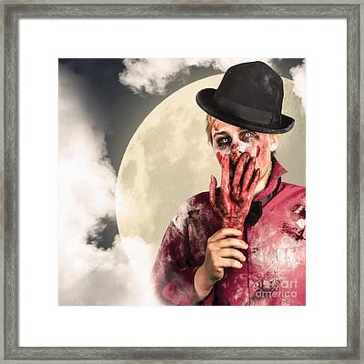 Full Moon On A Scary Halloween Night Framed Print by Jorgo Photography - Wall Art Gallery