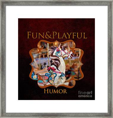 Fun And Play Gallery Framed Print by Iris Richardson