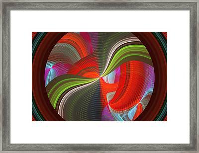 Futuristic Tech Disc Fractal Flame Framed Print by Keith Webber Jr