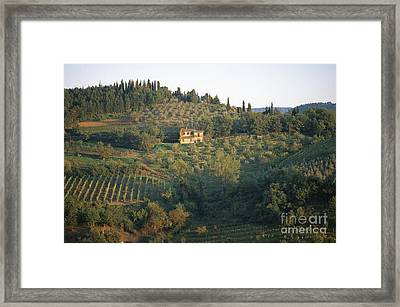 Gaiole Framed Print by Chris Selby