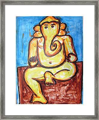 Ganesha-a4 Framed Print by Anand Swaroop Manchiraju