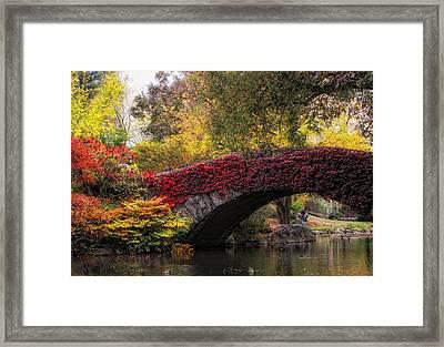 Gapstow Bridge In Autumn Framed Print by Jessica Jenney