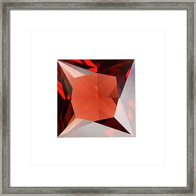 Garnet Framed Print by Science Photo Library