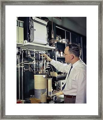 Gas Chromatography Food Research Framed Print by Agricultural Research Service/us Department Of Agriculture