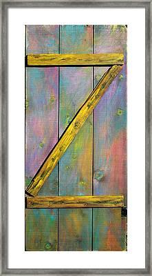 Gateway To Z Universe Framed Print by Asha Carolyn Young