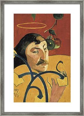 Gauguin, Paul 1848-1903. Self-portrait Framed Print by Everett