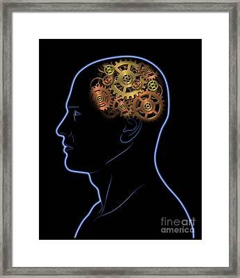 Gears In The Head Framed Print by Michal Boubin