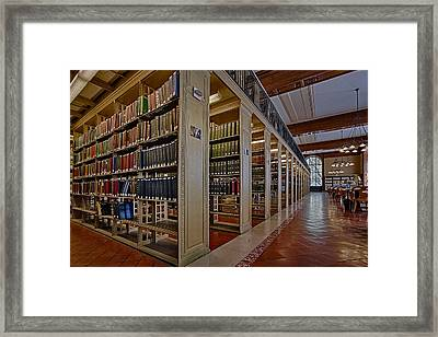 Genealogy Room Ny Public Library Framed Print by Susan Candelario
