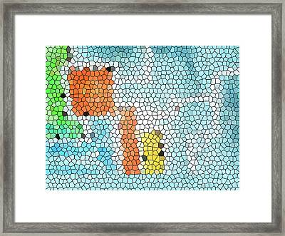 Geometric Abstract Framed Print by Pixel Chimp