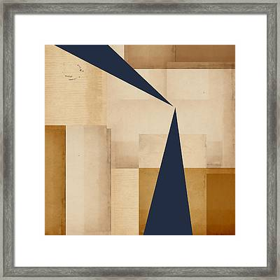 Geometry Indigo Number 5 Framed Print by Carol Leigh