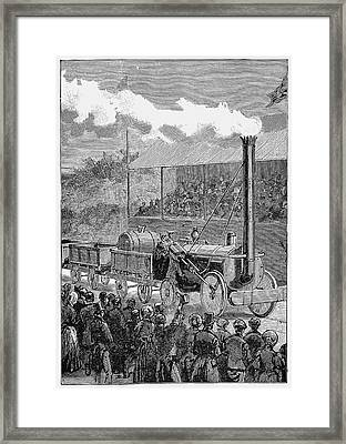 George Stephenson's 'rocket' Framed Print by Universal History Archive/uig