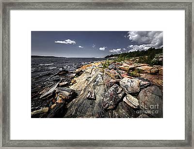 Georgian Bay Shore Framed Print by Elena Elisseeva