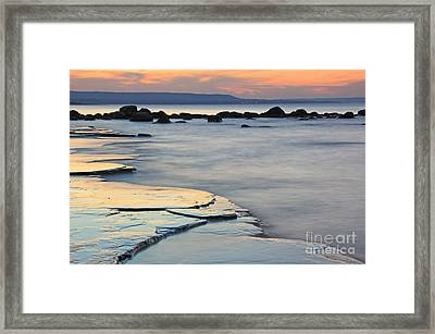Georgian Bay Sunset Framed Print by Charline Xia