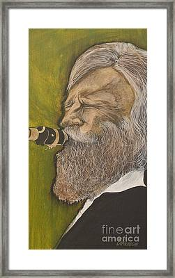 Gerry Mulligan Framed Print by Dave Coleman