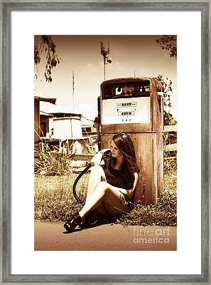 Ghost Town Named Oil And Gas Framed Print by Jorgo Photography - Wall Art Gallery