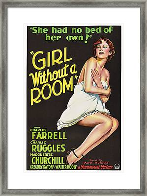 Girl Without A Room, Marguerite Framed Print by Everett