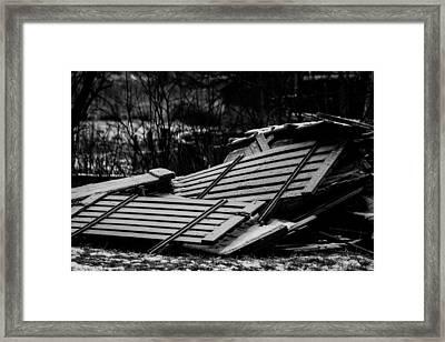 Glacial Framed Print by Odd Jeppesen