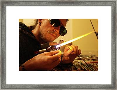 Glass Making Framed Print by Tomasz Litwin