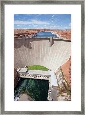 Glen Canyon Dam Framed Print by Peter Menzel