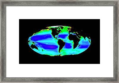 Global Chlorophyll Levels Framed Print by Nasa/seawifs/geoeye
