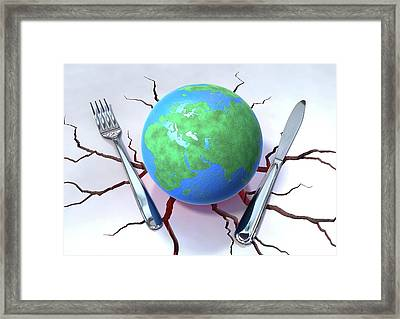 Global Food Production Framed Print by Animated Healthcare Ltd