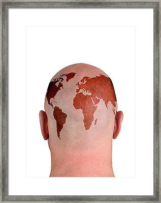 Global Thinking Framed Print by Victor De Schwanberg