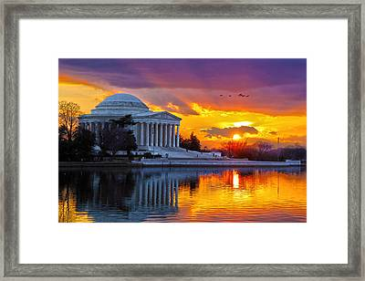 Glow Framed Print by Mitch Cat