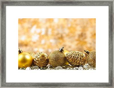 Golden Christmas  Framed Print by Elena Elisseeva
