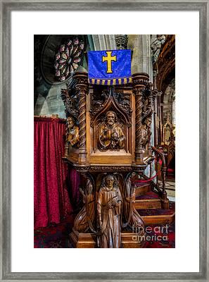 Golden Cross Framed Print by Adrian Evans