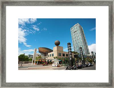 Golden Fish By Frank Owen Gehry Framed Print by Sergio Pitamitz