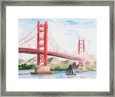Golden Gate Bridge Framed Print by Masha Batkova