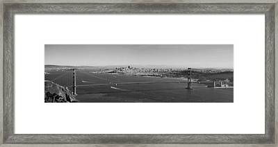 Golden Gate Bridge Panorama Framed Print by Twenty Two North Photography
