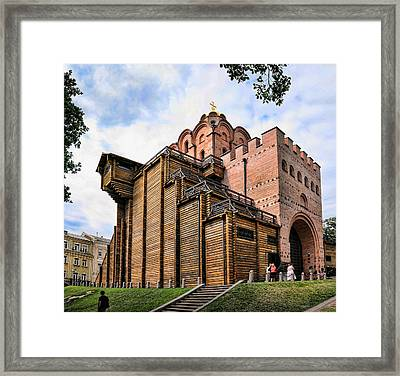 Golden Gate Kiev Framed Print by Matt Create
