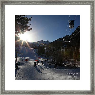 Gondola At Squaw Valley Usa 5d27688 Square Framed Print by Wingsdomain Art and Photography