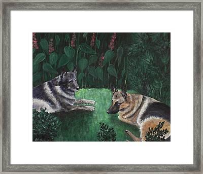 Good Friends Framed Print by Anastasiya Malakhova