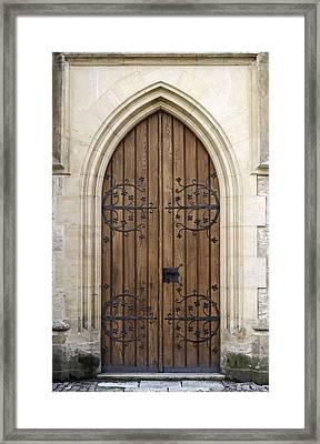 Gothic Door. Framed Print by Fernando Barozza