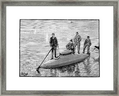 Goubet Submarine, 1880s Framed Print by Science Photo Library