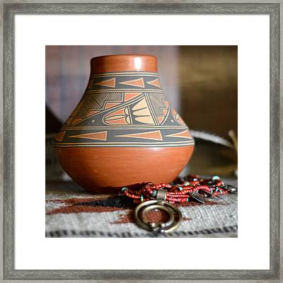 Graceful Pottery Framed Print by Mary Zeman